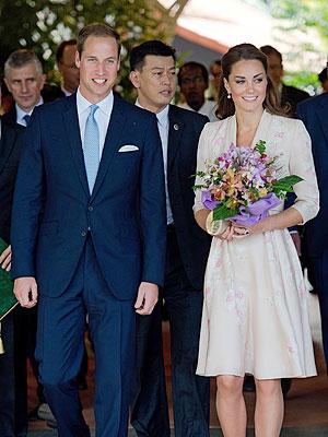 Kate Middleton, Prince William Asia Tour Begins in Singapore