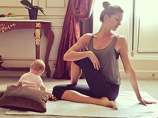 PHOTO: Gisele Bündchen Practices with Her Little Yogini