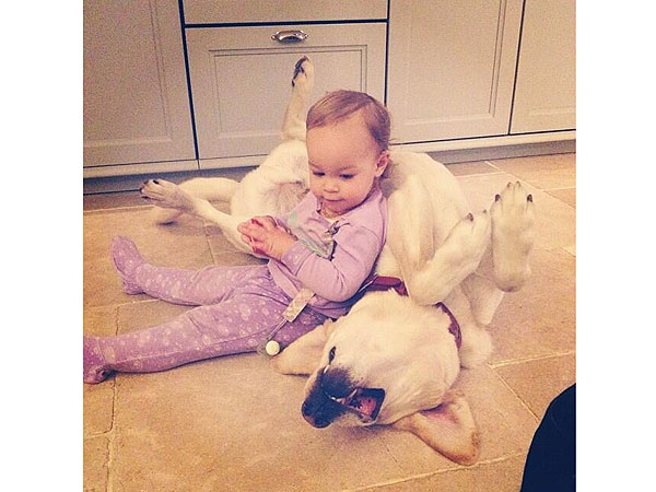 Jack Osbourne's Daughter, Pearl, Uses Her Dog as a Chair