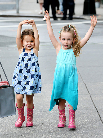 Mini Chic! Tabitha and Loretta Broderick's Adorable Twin Style