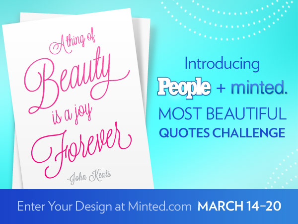 PEOPLE and minted most beautiful quotes contest
