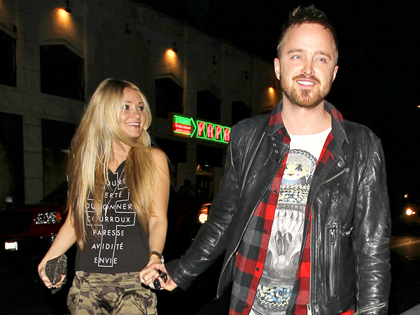 Aaron Paul & Fiancée Prep for Wedding Las Vegas-Style