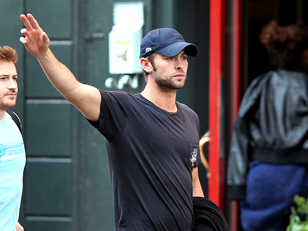 Chace Crawford and a Pal Get a Late Lunch in N.Y.C.