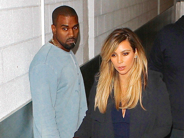 Kim Kardashian & Kanye West Are All About Baby Nori During Dinner in Beverly Hills