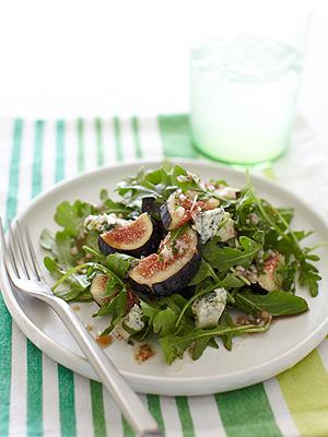 Summer BBQ Recipes: Arugula, Fig & Bleu Cheese Salad