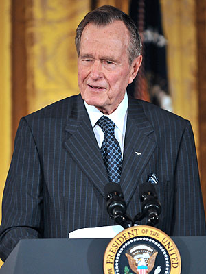 George Bush, 41st President, in ICU with Setbacks, Fever