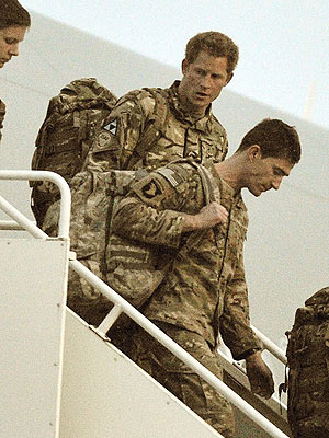 Prince Harry Returns to Britain from Fighting in Afghanistan