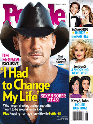 Tim McGraw's Weight Loss and Quitting Drinking: PEOPLE Magazine Cover