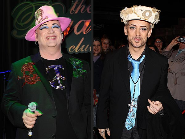 Boy George Shows Off Dramatic Weight Loss in London