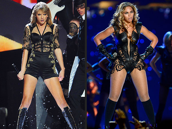 Taylor Swift Channels Beyoncé at Brit Awards | Beyonce Knowles, Taylor Swift