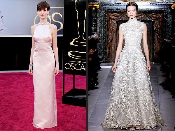 Oscars 2013: Anne Hathaway Dress Switch from Valentino to Prada