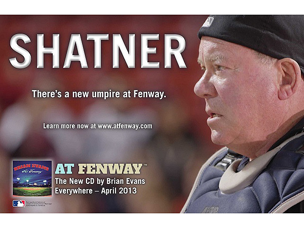 Red Sox New Umpire: William Shatner (in a New Music Video)
