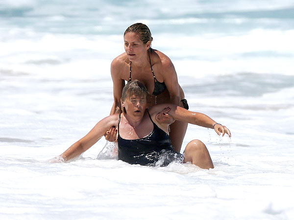 Heidi Klum Rescues Nanny From Ocean