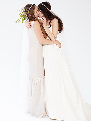 Jemima Kirke Kisses Jewelry Designer Pamela Love in Bridal Advertisement