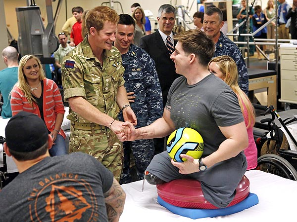 Prince Harry Visits Walter Reed National Military Medical Center