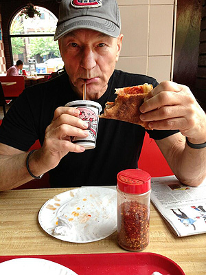 Patrick Stewart Ate Pizza Before