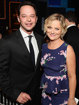Amy Poehler Dating Nick Kroll - Couple Step Out in Hollywood