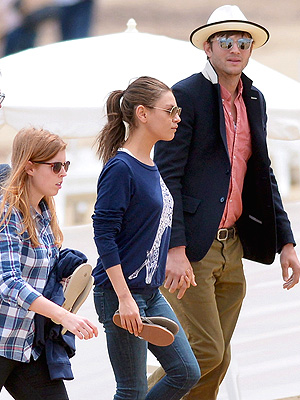 Ashton Kutcher, Mila Kunis Photos with Princess Beatrice in St. Tropez