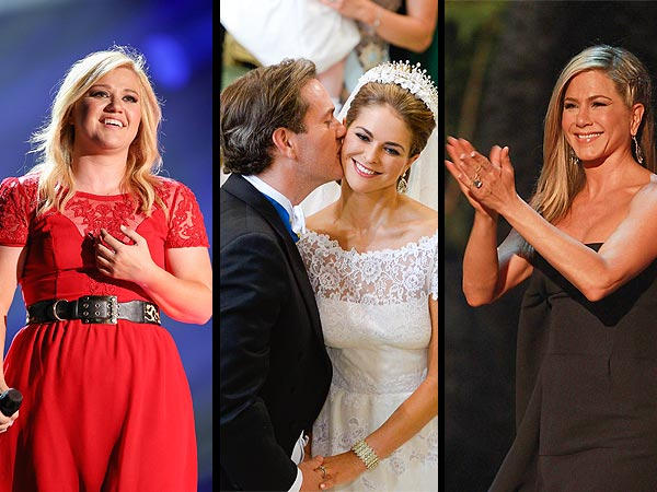 Jennifer Aniston Stuns at Guys Choice Awards, Princess Madeleine of Sweden Weds
