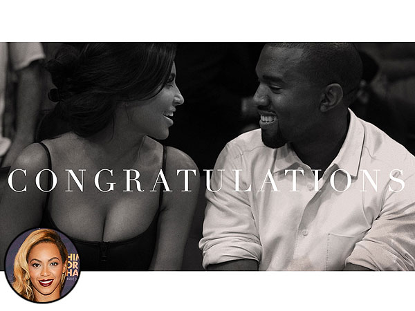 Beyonce Congratulates Kim Kardashian and Kanye West