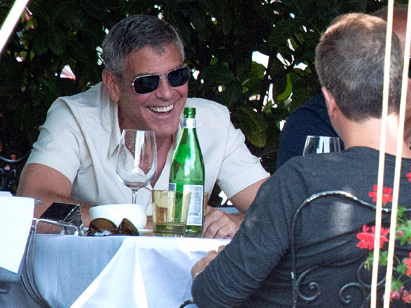 George Clooney Flashes Million-Dollar Smile in Italy