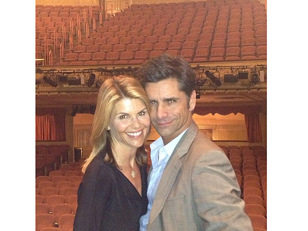 John Stamos and Lori Loughlin Reunite in N.Y.C.