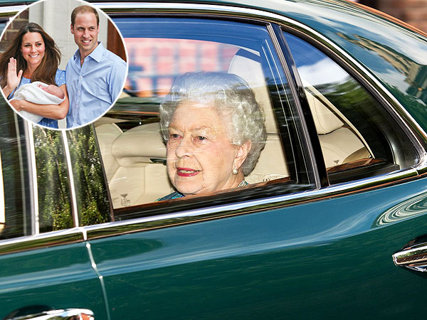 Queen Elizabeth Visits Prince of Cambridge