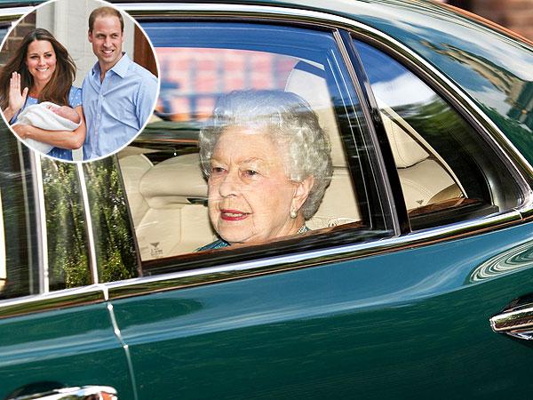 Queen Elizabeth Visits Prince of Cambridge