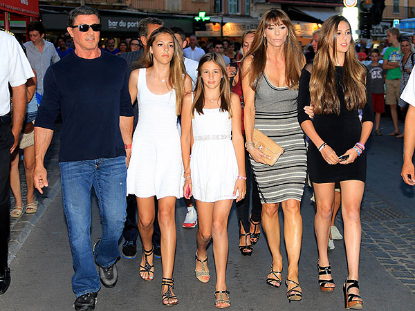 Sylvester Stallone Surrounded by Beauties in Saint-Tropez