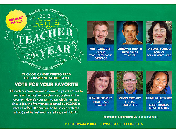 PEOPLE Teacher of the Year Awards - Vote Now