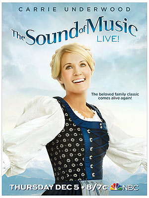Carrie Underwood as Maria in The Sound of Music Poster