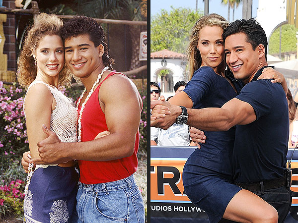 Saved by the Bell's Elizabeth Berkley and Mario Lopez, Then and Now!