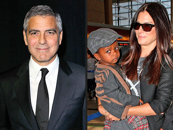 George Clooney and Sandra Bullock's Son Louis Bond Shooting Hoops