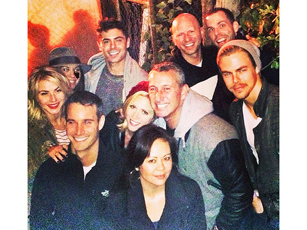Zac Efron Hits Haunted Hayride, Post-Rehab, with Brittany Snow and Julianne & Derek Hough