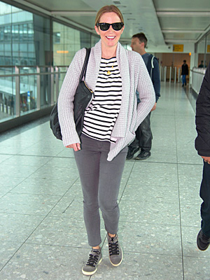Emily Blunt Is All Smiles as She Lands in London