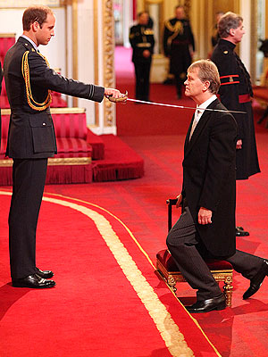 Prince William Bestows Knighthood for the First Time
