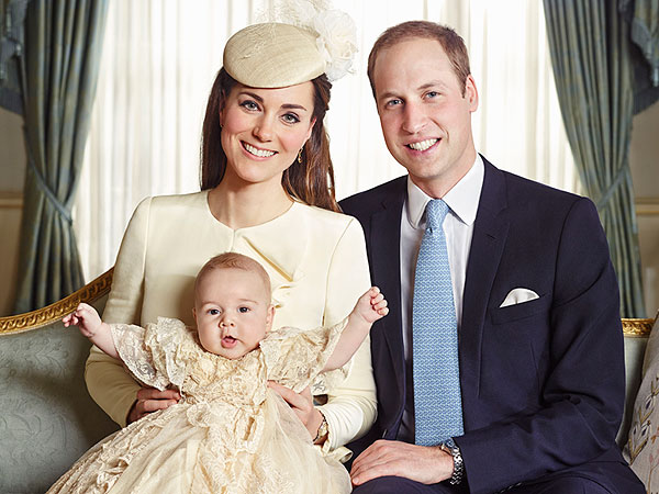 Royal Christening: Prince William, Kate and Prince George Pose for Official Portrait