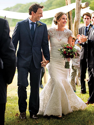 Seth Meyers & Alexi Ashe Wed in Picturesque Martha's Vineyard