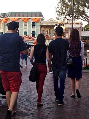 Zac Efron and Lily Collins Hold Hands at Disneyland – Are They Back Together?