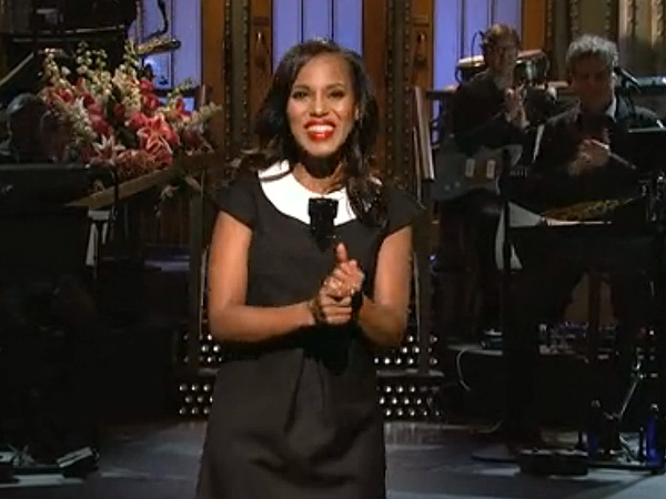 Kerry Washington Hosts SNL, Satirizing Its Diversity Issue – See Video