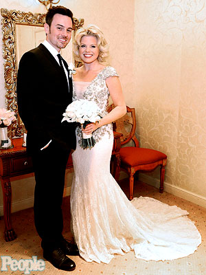 Megan Hilty and Brian Gallagher Share Exclusive Wedding Photo