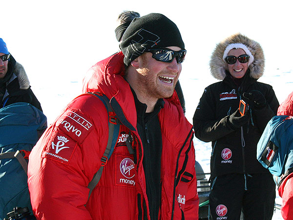 Prince Harry Makes Jokes on a Phone Call from the South Pole