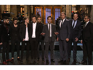 One Direction 'Battled' the Cast of Anchorman 2 on SNL