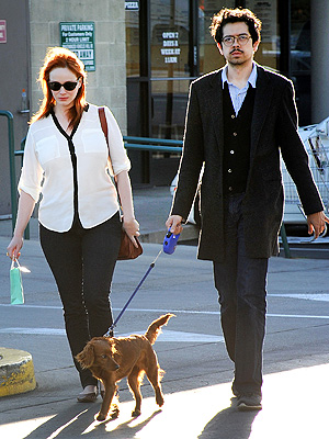 Christina Hendricks: My Dog Has the Same Hair as Me!