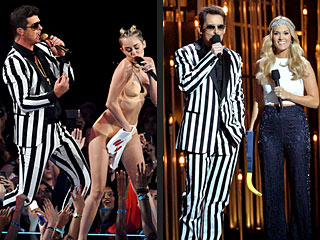 How to Tell the Difference Between the CMAs & the VMAs | Brad Paisley, Carrie Underwood, Miley Cyrus, Robin Thicke