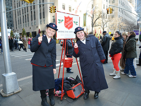 Salvation Army Bell Ringers in Manhattan, N.Y.C.