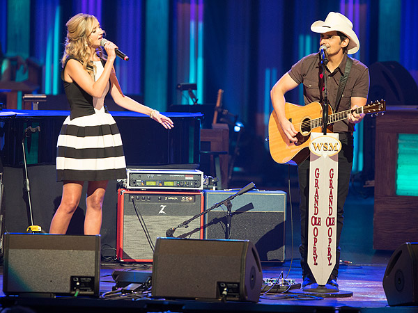 Brad Paisley Plays Grand Ole Opry with Sarah Darling