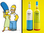 What's Better Than Duff Beer? Homer & Marge Simpson Wine Bottles