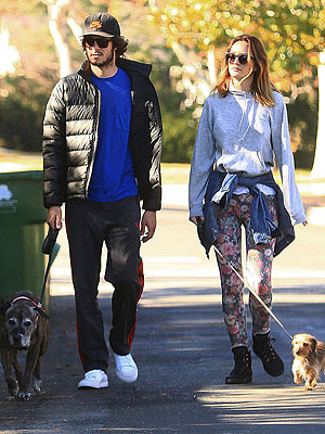 Leighton Meester Hides Ring Finger While Strolling with Adam Brody