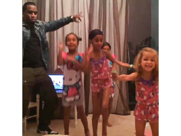 Diddy Dances with His Daughters Mid-Slumber Birthday Party